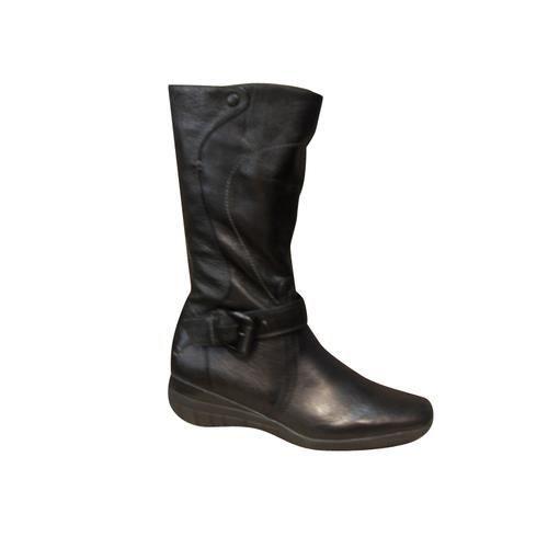Bottes/Mi bottes femmes MAM'ZELLE confort cuir noir