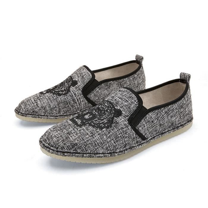 Homme Confortable Antidérapant Moccasins Loafer on Sneakers Classique Personnalité Baskets Loisirs Chaussures Slip 6ybf7g