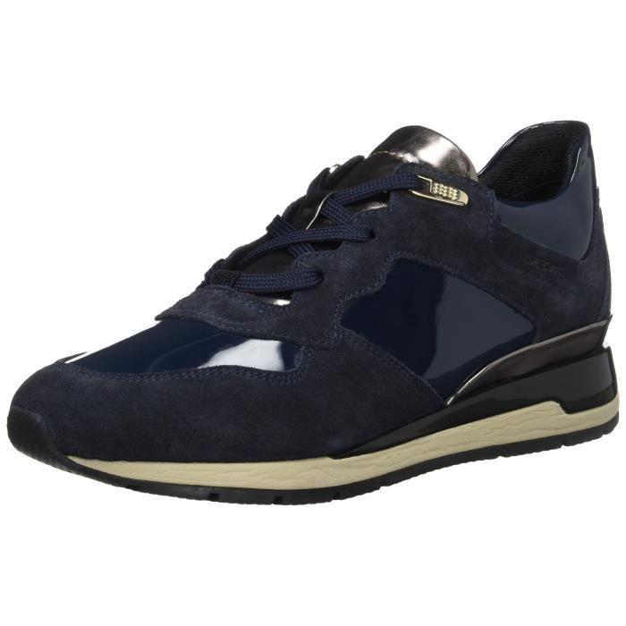 b4d91e59c19f4 Geox D Shahira B Sneakers-top des femmes 3PKKA9 Taille-37 Bleu Bleu ...