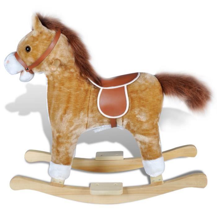 Animal de cheval à bascule avec musique