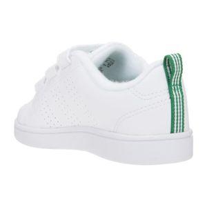 Enfant Baskets et Velcro Blanc vert Clean Advantage Vs ADIDAS vwqZXX