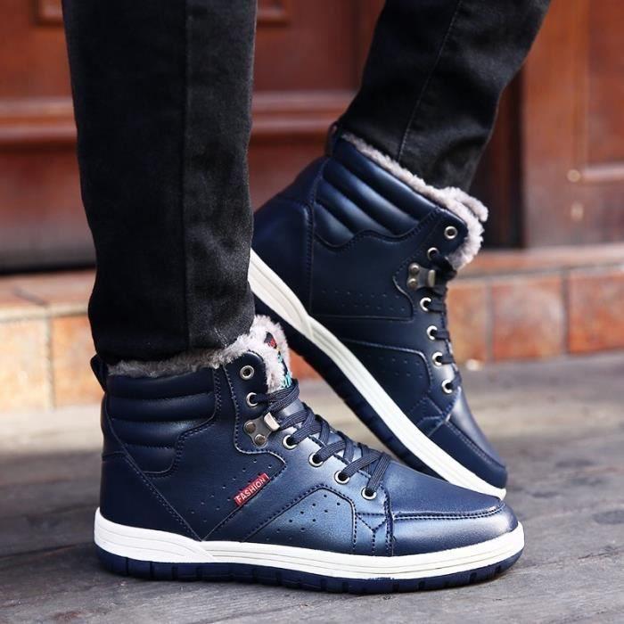 Bottes pour Hommenoir 10 Loisirs Homme hiver court conception populaires Chaussures Thicker plus Cotton Keep chaud_49810