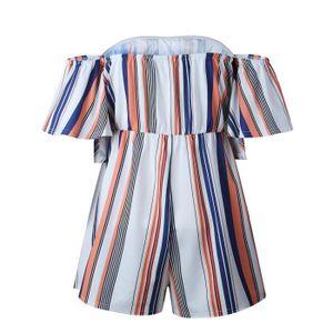 ... COMBINAISON Femmes Dames Rayures Imprimé Combinaison Clubwear. ‹› 977feaed52fb