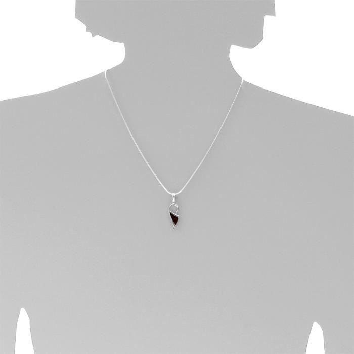 245a207090340 - Collier Femme - Argent 925-1000 - Ambre Z8P0R