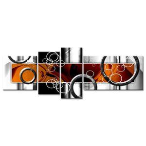 TABLEAU - TOILE Tableau Déco Abstrait Design Ronds - 160x60 cm
