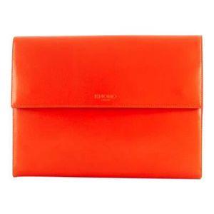 HOUSSE TABLETTE TACTILE étui iPad Air organizer KNOMAD cuir Rouge Knomo