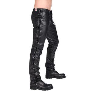 Pantalon cuir marron homme coupe 501