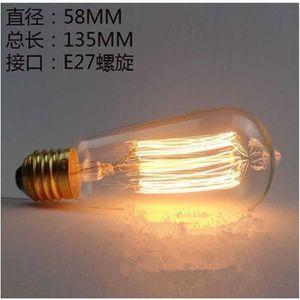 BOUGIE ANNIVERSAIRE ST58 E27 40W Ampoule Retro Edison ampoule à incand
