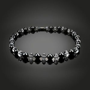 307ea4e1cc7 SAUTOIR ET COLLIER Élégant collier de perles noires magnétiques boucl