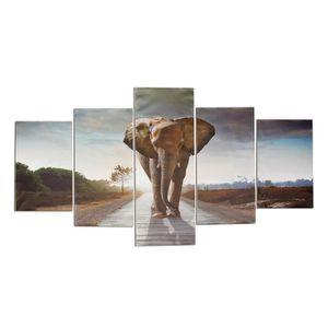 tableaux peinture sur toile elephant achat vente tableaux peinture sur toile elephant pas. Black Bedroom Furniture Sets. Home Design Ideas