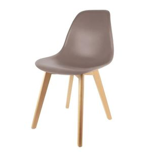 chaise scandinave taupe achat vente pas cher. Black Bedroom Furniture Sets. Home Design Ideas