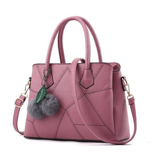 De Cuir Rose b091 Classique Sac Luxe A bbdg Bandouliere Femme Main wqcTtF