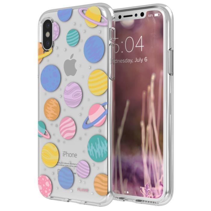 Coque iPlate Happy Planets pour iPhone X