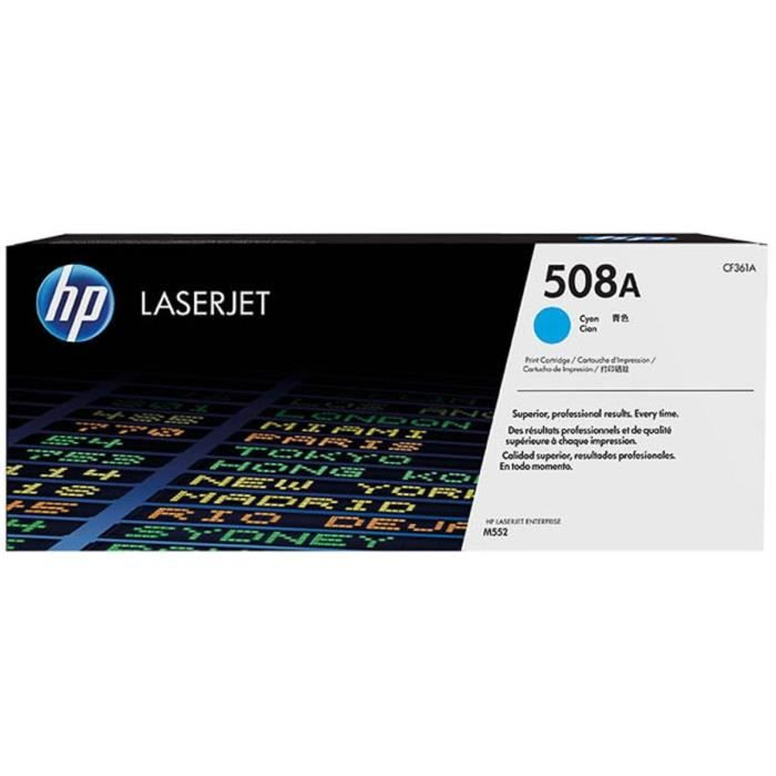 HP Cartouche toner 508A - Cyan - 5 000 pages