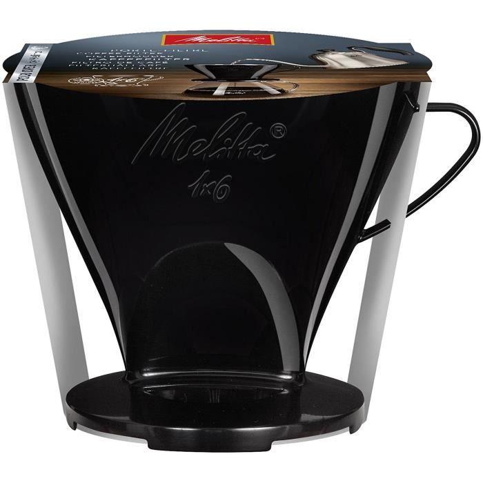 MELITTA Porte-filtre à café 1x6 - Noir