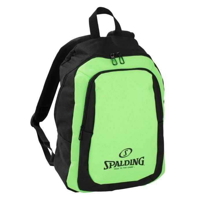 SPALDING Sac à dos de sport Essential - 20L - Vert et noir