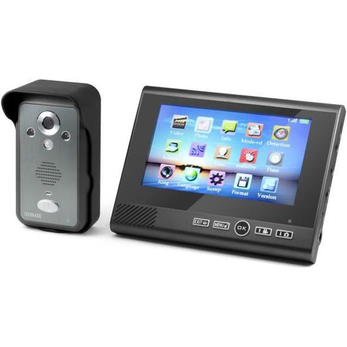 TECHNAXX Visiophone TX-59 sans fil écran couleur TFT LCD 7\