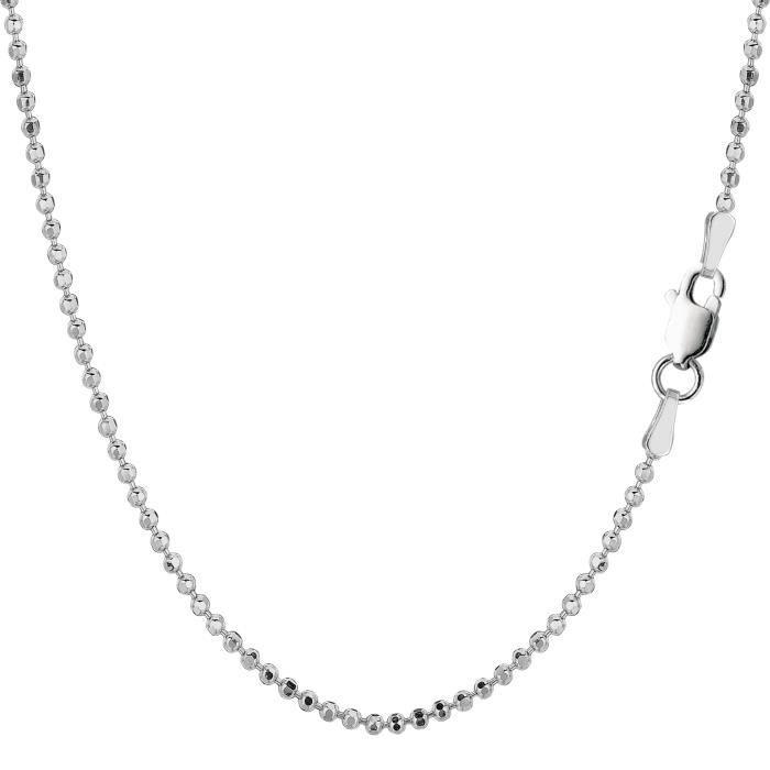 Chaîne- Argent sterling Rhodium plaqué , 1, 8mm, 18