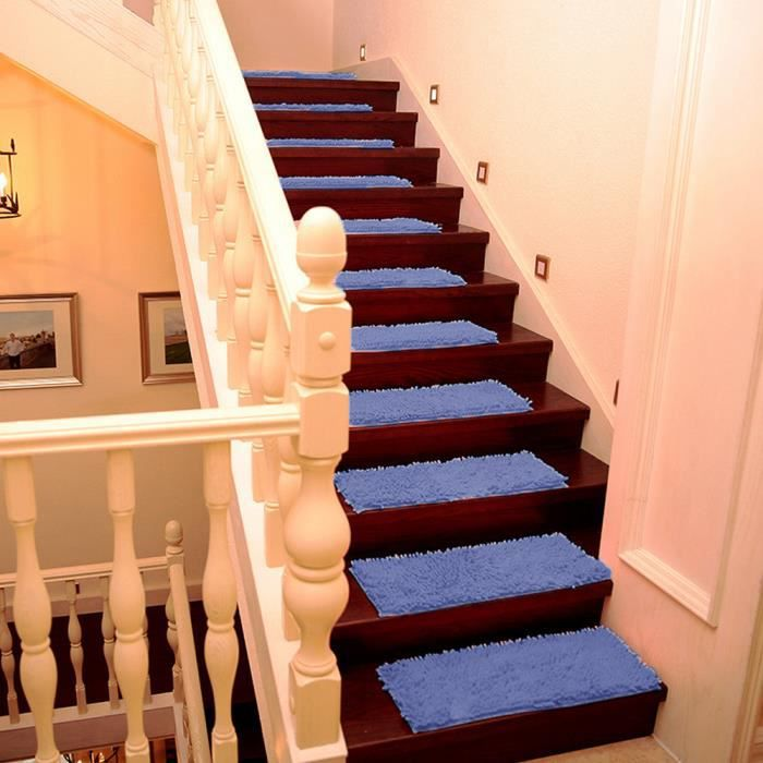 25 70 Cm Bleu Tapis Antiderapant Marchette Escalier Achat Vente