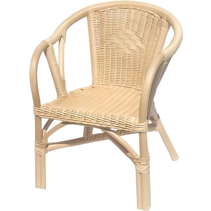 fauteuil en rotin edgar naturel achat vente fauteuil cdiscount. Black Bedroom Furniture Sets. Home Design Ideas