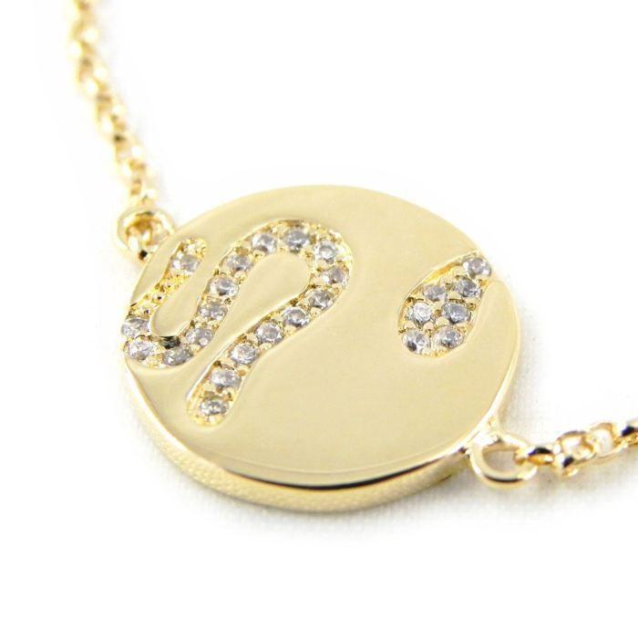 Bracelet Plaqué or Déesse blanc