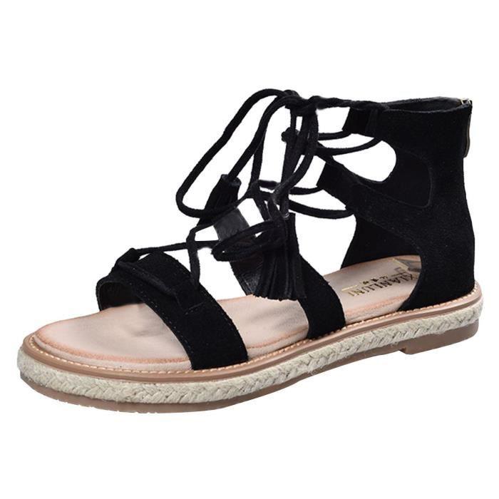 EOZY Sandales Femme Chaussures Roman Talon Plat