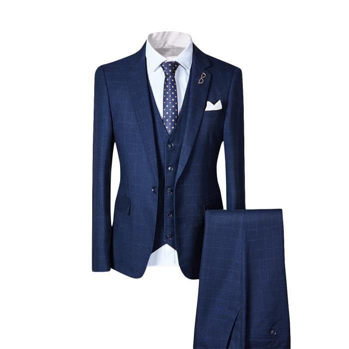 b4a423ba0f6b5d 2017 nouveau costume pour homme, ensemble de vêtement, trois pièces, col  tailleur classique pour mariage, style d'affaire, casual