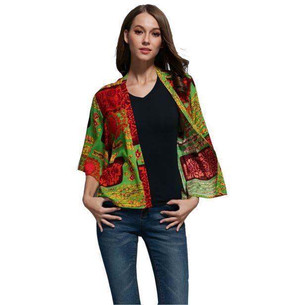 Kimono zf8678 Châle Imprimé D'été À Blouse Cardigan Manteau Banconre®les Femmes Floral CAwqpxn8P