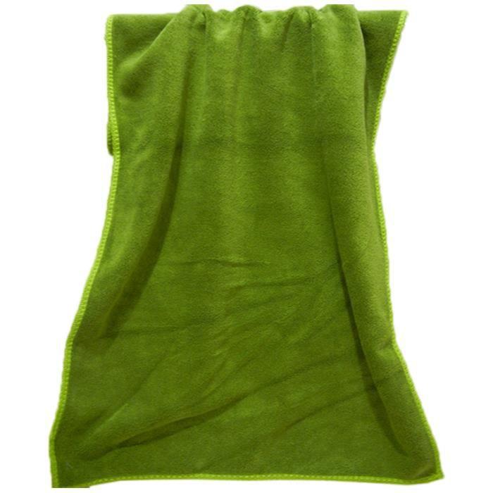 Serviette De Bain Couleur Vert - Achat / Vente Serviette De Bain