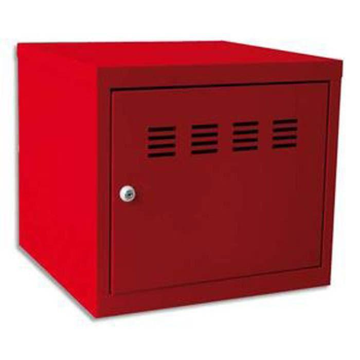 cube de rangement métal concept colori rouge - achat / vente casier