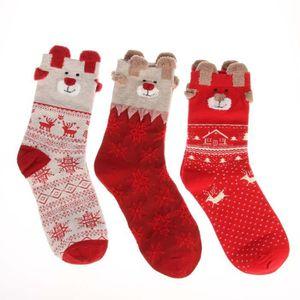 8c618a5e5b5e ... CHAUSSETTES EOZY Lot de 3 Paires Chaussettes de Noël Femme Hiv ...