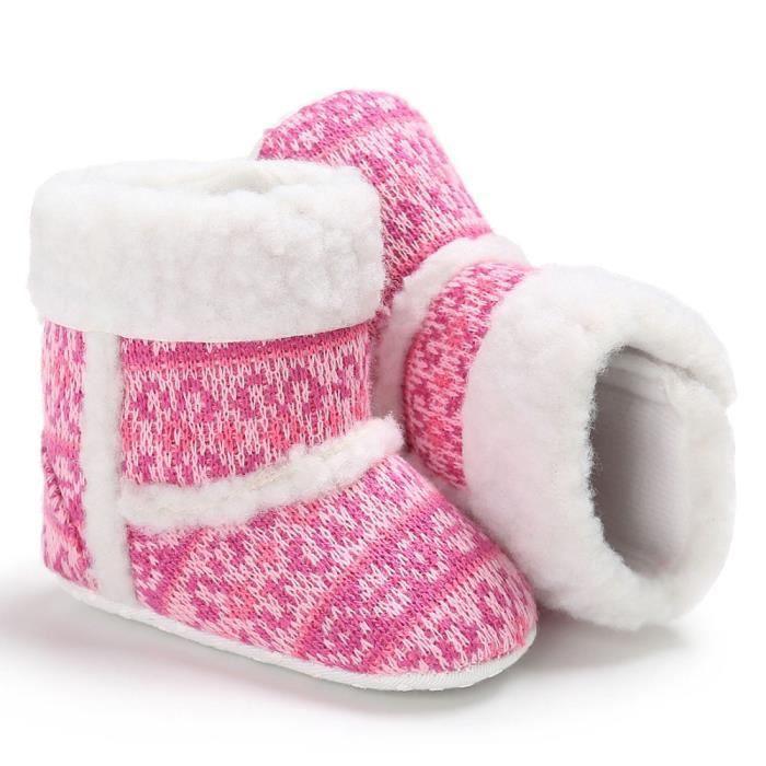 bébé bambin bébé fille neige bottes semelle molle prémarcheur berceau chaussures rose I6hkF