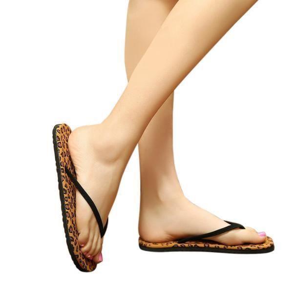 Femmes été tongs chaussures sandales pantoufle intérieure et extérieure tongs