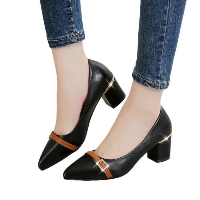 Mocassins Bout Carré Casual 7336 Chaussures Talon Veberge Femmes Mode Pointu Simples w50xqSIX