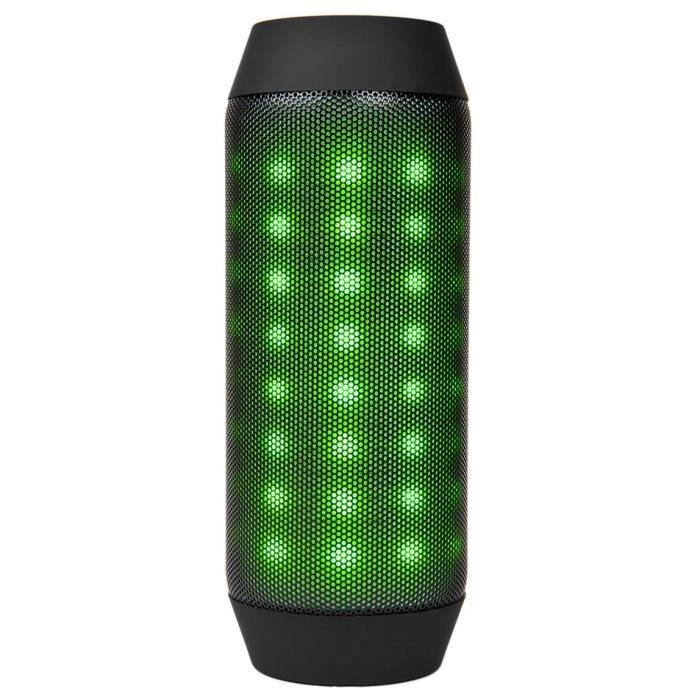 Enceinte Sans Fil Bluetooth Portable,stéréo Haut-parleur,fm ,led Lumière Noir