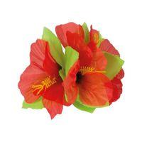 epingle à cheveux fleur hawaienne rouge - achat / vente accessoire