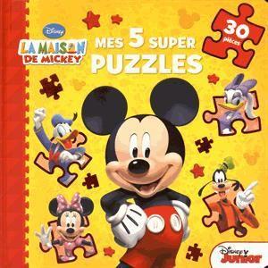 Livre 3-6 ANS Mes 5 supers puzzles