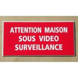 pancarte video surveillance achat vente pas cher. Black Bedroom Furniture Sets. Home Design Ideas