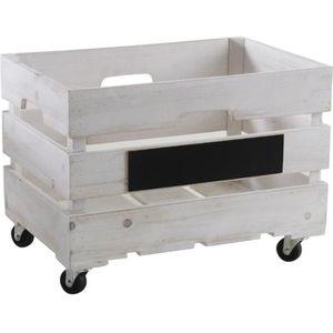 bac en bois sur roulettes achat vente bac en bois sur roulettes pas cher cdiscount. Black Bedroom Furniture Sets. Home Design Ideas