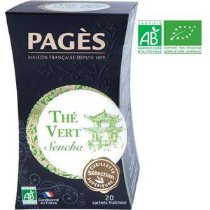 THÉ PAGES Thé Vert Sencha Bio