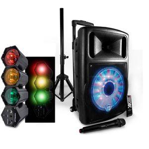 ENCEINTE ET RETOUR Enceinte Mobile FUZZY12BT LED Active 700W 12