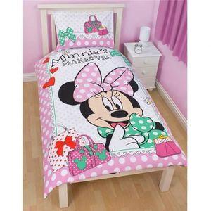 Disney Minnie Mouse Parure Reversible Pour Lit Simple Enfant