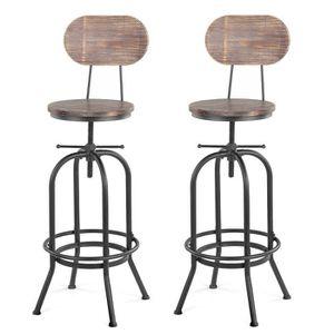 Chaise Bistrot 2 Tabourets De Bar Modernes Cuisine Réglables En Hauteur Wave 100% Original