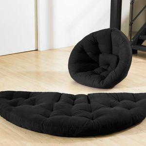 FUTON Chauffeuse gris anthracite convertible futon NIDO