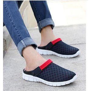 SANDALE - NU-PIEDS Rouge  chaussures homme, sandales confortables et
