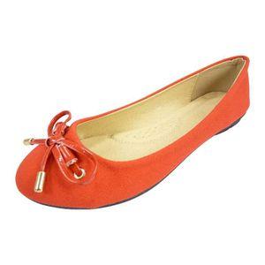 TissuToile Chaussures Rouge Femme Et Noeud Ballerines Vernis v0wOnmN8