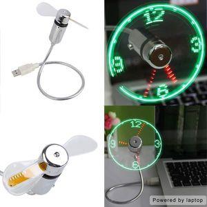 VENTILATEUR DE PLAFOND U Portable Mini USB LED Afficher Ventilateur d'hor
