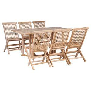 Chaise de jardin teck pliante - Achat / Vente pas cher