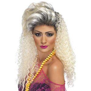 CHAPEAU - PERRUQUE Smiffys Déguisement Femme, Perruque Fausse Blonde