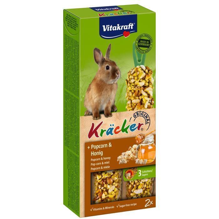VITAKRAFT Kräcker Popcorn et miel P/2 - Pour lapin nain